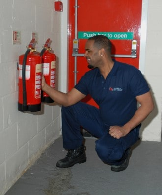 Fire extinguisher servicing in Surrey