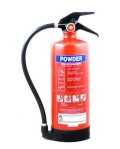 types of fire extinguisher - dry powder fire extinguishers - fire extinguisher types