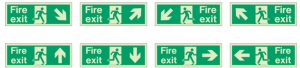 Examples of fire exit signs