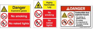 examples of combined warning and prohibition signs