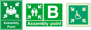 examples of fire assembly point safety signs