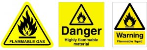examples of fire safety warning signs