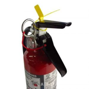 extinguisher with anti tamper tag
