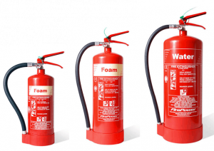 how many fire extinguishers are required in a business premises