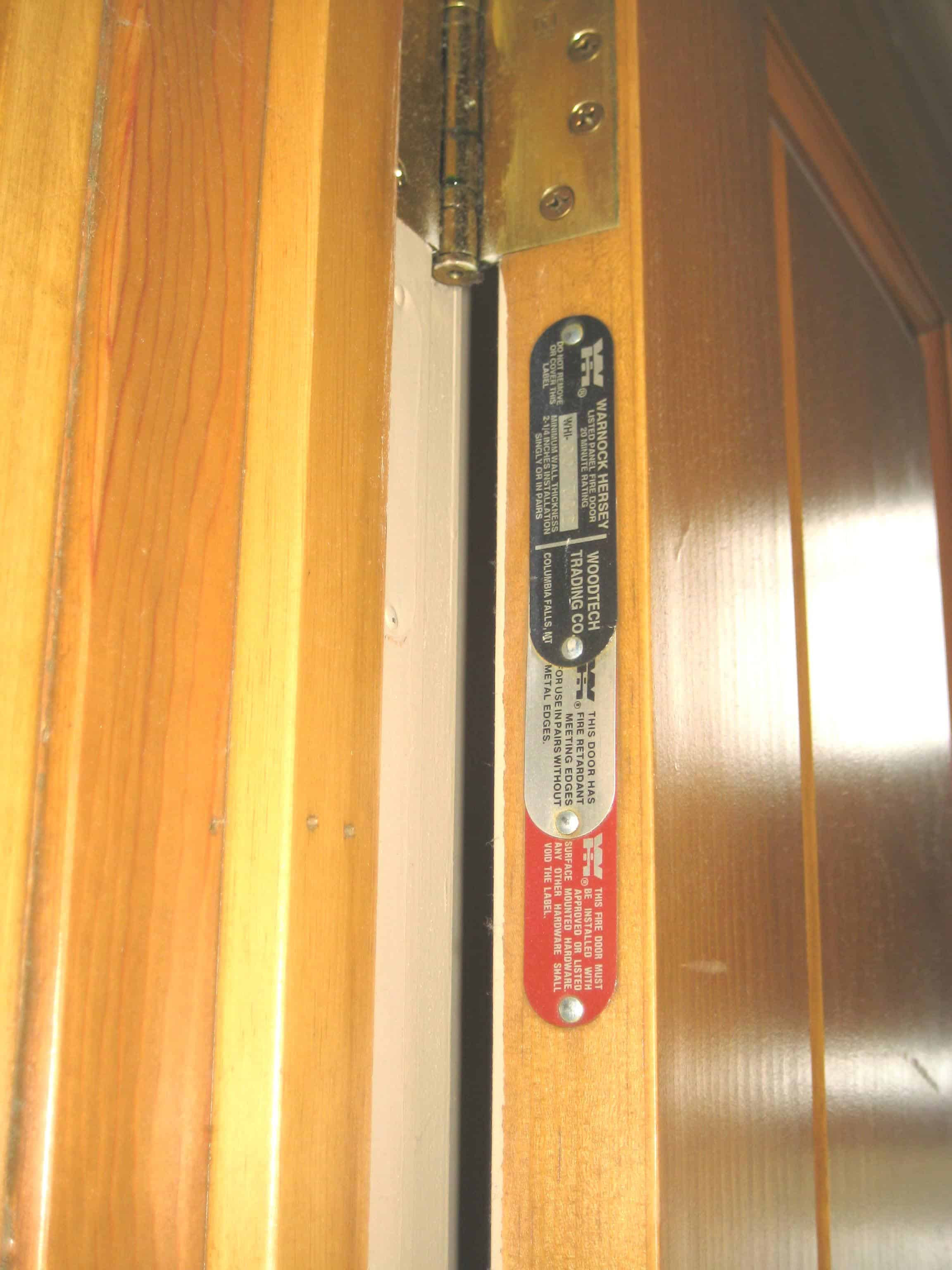 fire door frame label 2