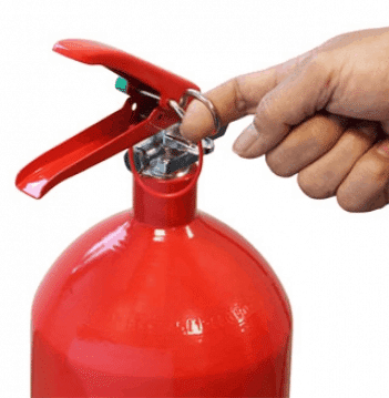 foam fire extinguishers how to remove safety pin