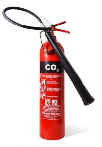 Fire Extinguisher Colours - CO2 fire extinguisher