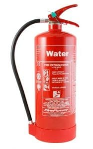 Fire Extinguisher Colours - Water fire extingiusher