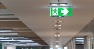 Emergency lighting in offices