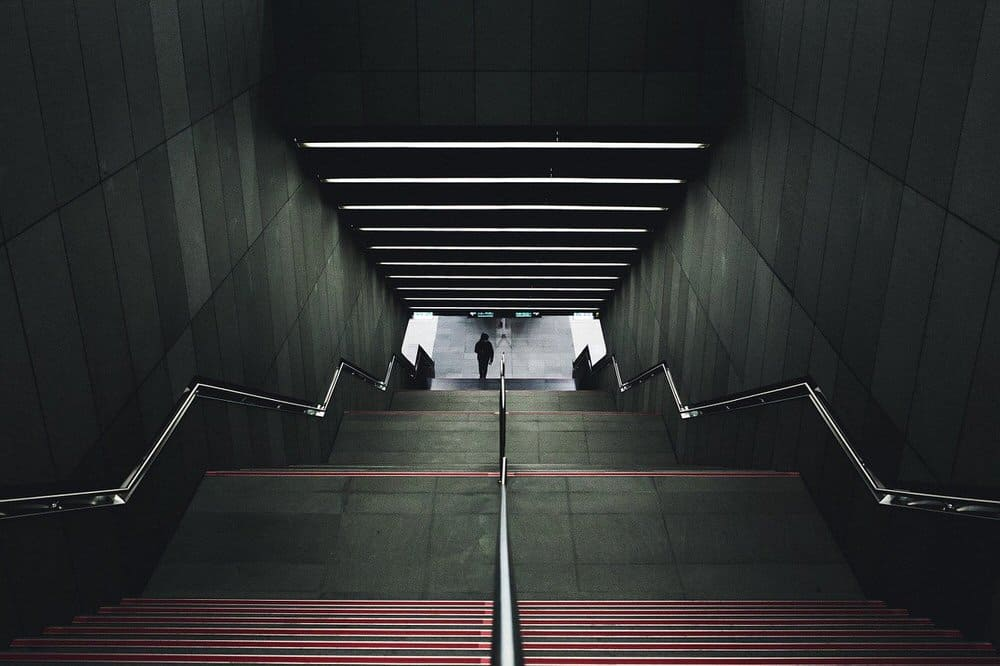 backup lighting in staircase